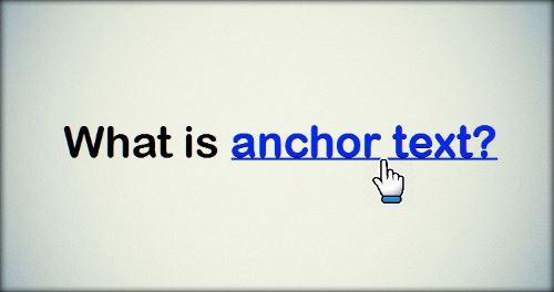 cos'è un anchor-text